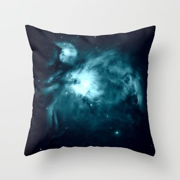 Orion nebula : Teal Galaxy Throw Pillow by 2sweet4words Designs