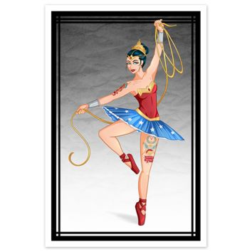 "Tattooed ""Wonder Woman Inspired"" Ballerina - 20x30 Poster"