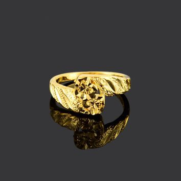 Roman Reigns 24k gold colour plated ring wedding Cocktail ring