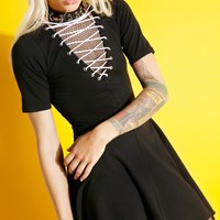 Uprising Lace-Up Dress