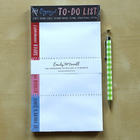 Organized To-Do List Notepad