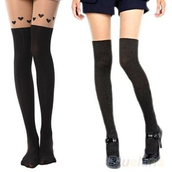 2016 hotCute Girls Women Sexy Sheer Pantyhose Hose Tights Silk Stockings Butterfly 8SQL