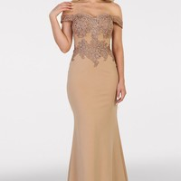 Long Formal Prom Dress Plus Size Evening Gown