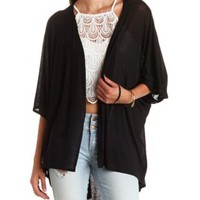 Oversized High-Low Kimono Cardigan by Charlotte Russe