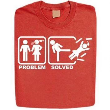 Stabilitees Problem Solved Funny Rude Offensive Adult Humor Mens T Shirts