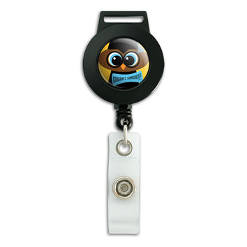 Owl Graduation Retractable Badge Card ID Holder