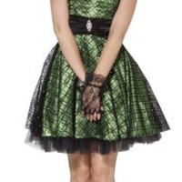 Flocked Mesh Satin Homecoming Party Holiday Prom Dress