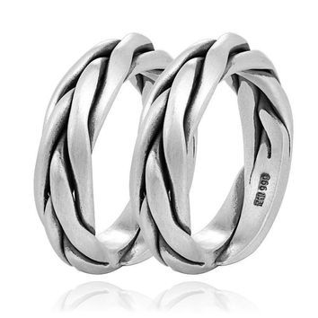 999 Sterling Silver Couple Rings For Men and Women