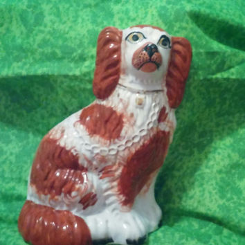 Antique Staffordshire Spaniel Dog Wally Dog