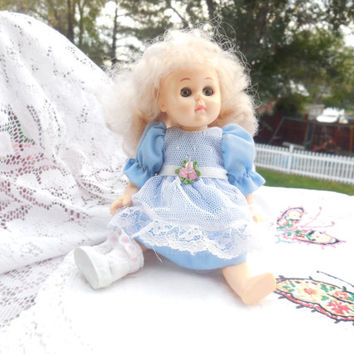 Ginny Doll in Her Pretty Little Blue Party Dress..