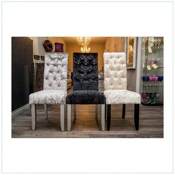 Crushed Velvet Dining Room Chairs