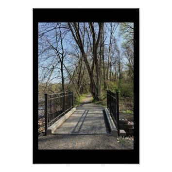 Walking Bridge in Park Poster