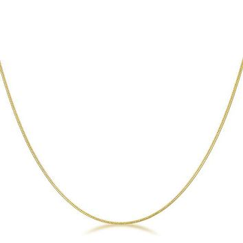 Neala Golden Snake Chain Necklace | 18in