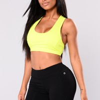 Kerry Active Sports Bra -Yellow