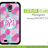 Personalized Monogrammed Samsung Galaxy S4 Case Seamless Pattern