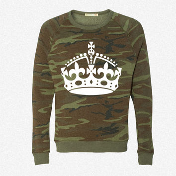Keep Calm Crown fleece crewneck sweatshirt