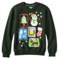 Men's Thanks Mom Christmas Fleece Sweatshirt - Green