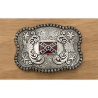 M&F Western Products Silver Scalloped Rebel Flag