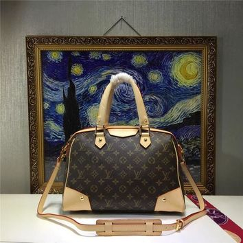 LV Louis Vuitton WOMEN'S MONOGRAM LEATHER HANDBAG INCLINED SHOULDER BAG