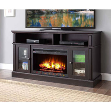 "Walmart: Barston Laminated Wood Fireplace for TVs up to 70"", Espresso"
