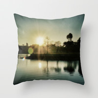 Goodbye Yesterday Hello Today Throw Pillow by RichCaspian