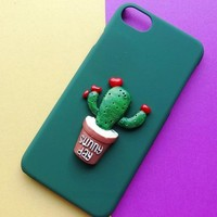 Heart-shape Cactus iPhone 7 7 Plus & iPhone 6 6s Plus & iPhone 5s se Case Personal Tailor Cover + Gift Box-481-170928