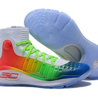 Under Armour Men's SC30 Stephen Curry 4 Rainbow Sport Sneaker