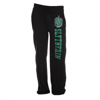 Slytherin Crest Black Lounge Pants | HarryPotterShop.com