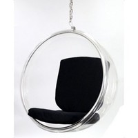 Bubble Hanging Chair - Black | www.hayneedle.com