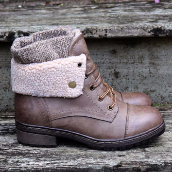 Stone Mountain Sweater Boot Brown Sweater Boots