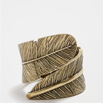 Wrapped Feather Cuff Bracelet