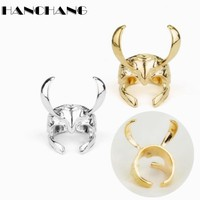 Thor The Dark World Thunder God Laufeyson Loki Helmet Ring Open Finger Ring Daily Party Cosplay Rings fashion accessories
