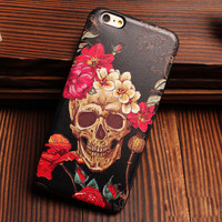 Skeletons Bone Pirates Offbeat Relief Silicone Soft Cases For Iphone 5/5S/6/6S