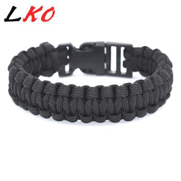 New arrivals Paracord survival bracelet parachute rope climbing rope bracelet outdoor emergency stainless steel clasp