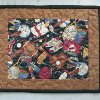 Quilted Beer Mat Mug Rug - Sports Activities 451