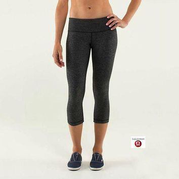 DCCKNQ2 Lululemon Wunder Under Crop Women Sport Leggings Pants Trousers