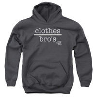 ONE TREE HILL/CLOTHES OVER BROS 2-YOUTH PULL-OVER HOODIE - CHARCOAL -