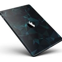 """Dark Green and Black Geometric Triangles Full Body Skin for the iPad Pro (12.9"""" or 9.7"""" available)"""