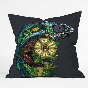 Sharon Turner Chameleon Pewter Throw Pillow