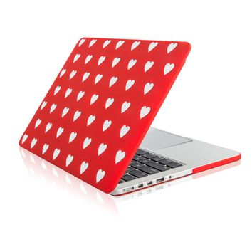 """Red Heart Shape Design Ultra Slim Light Weight  Hard Case Cover for Apple MacBook Pro 13.3"""" with Retina Display Model: A1425 and A1502"""