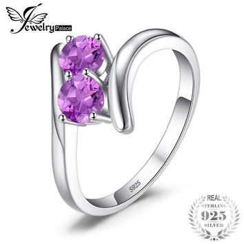 Classic 0.66ct Round Natural Amethyst Engagement Rings