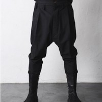 VANDALIQUE Drop Crotch Button Fly Dress Pants
