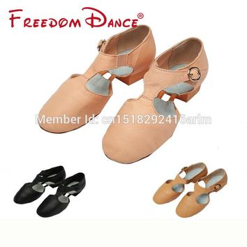 2018 Best Selling Pig Leather Teachers Dancing Sandal Jazz Dance Shoes For Girls And Women Sport Sneakers Free Shipping