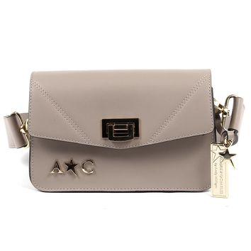 Andrew Charles Womens Handbag Taupe CAITLYN