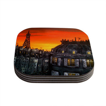 "Christen Treat ""Paris"" Coasters (Set of 4)"