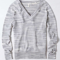 Anthropologie - Marled Sheer Pullover