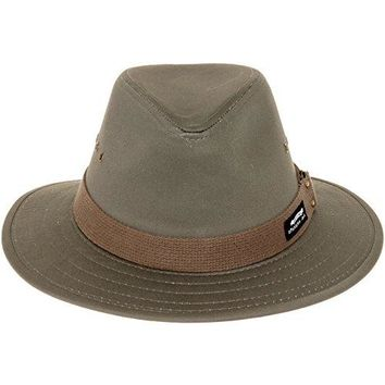 Panama Jack Men's Canvas Safari Sun Hat (Olive, Medium)