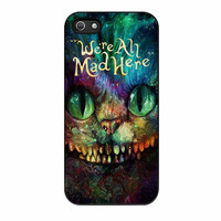 Cheshire Cat Alice In Wonderland Were All Mad Here Colorful iPhone 5s Case
