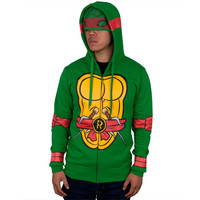 Teenage Mutant Ninja Turtles - I Am Raphael Costume Zip Hoodie