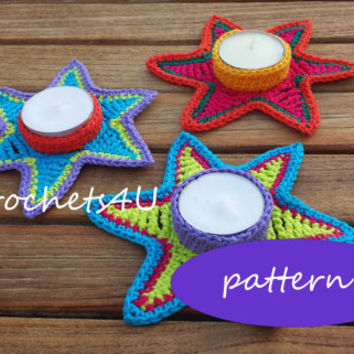 pattern crochet tealight star / English pattern